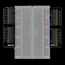 Raspberry Pi Experimentaar HAT (van bovenaf gezien)